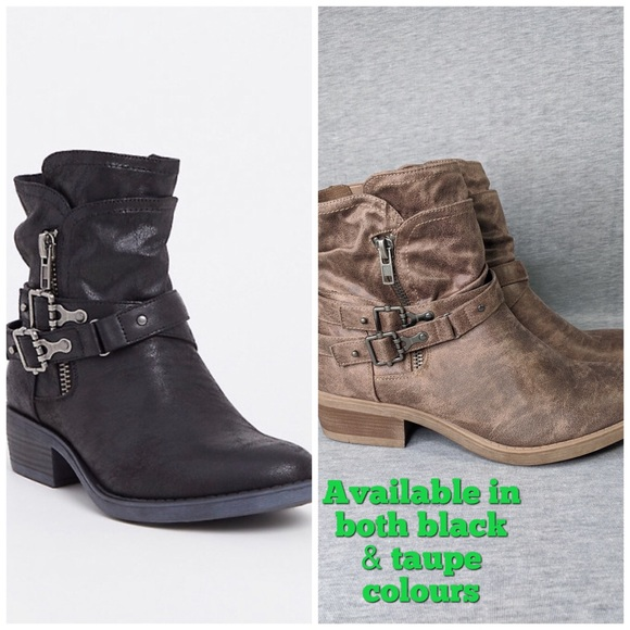 Torrid Brushed Faux Leather Moto Booties